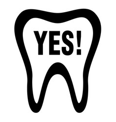 clean tooth icon simple style vector image