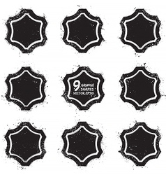 Grunge abstract textured badges vector image