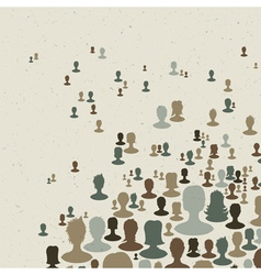 many peoples connect vector image vector image