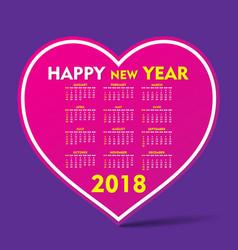 new year 2018 calendar design vector image