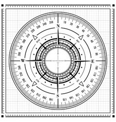 Radar compass rose vector image vector image