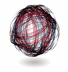 scribble ball vector image
