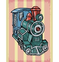 vintage background with steam train vector image vector image