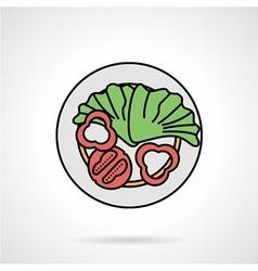 Salad flat color icon vector image vector image