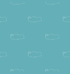 turkey map pattern seamless blue vector image