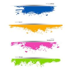 Watercolor set vector