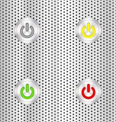 Electric start button vector image vector image