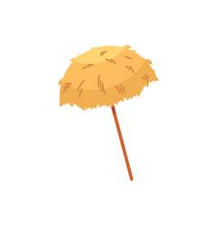 hawaiian thatch tiki beach umbrella sunshade vector image