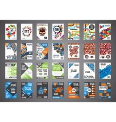 346brochure set vector image