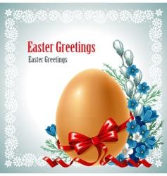 Easter banner vector image