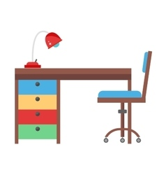 Kids workplace vector