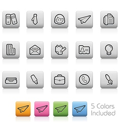Office and Business Buttons vector image
