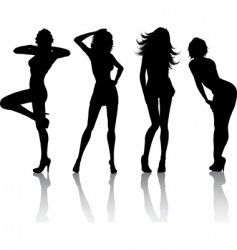 sexy females vector image vector image