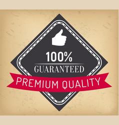100 percent absolute guarantee premium quality vector image