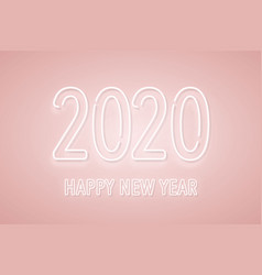 2020 new year neon signboard 2020 neon numbers on vector image
