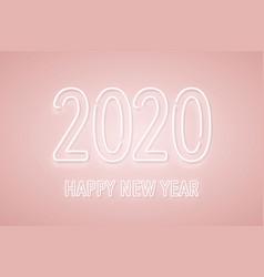 2020 new year neon signboard neon numbers vector image