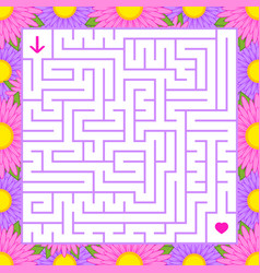 abstract colored square maze in a frame of vector image