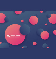 Abstract gradient circles contrast color vector