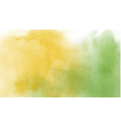 Abstract yellow and green watercolor vector