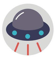 Alien ship vector