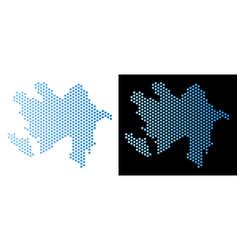 Azerbaijan map hex-tile abstraction vector