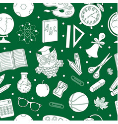 back to school seamless pattern hand drawing vector image