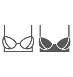 bra line and glyph icon female and underwear vector image
