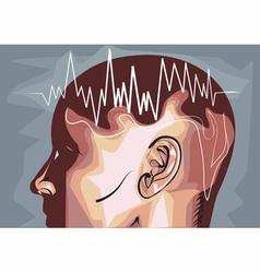 Brain waves eeg vector