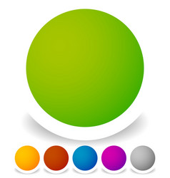 bright colorful circle design elements empty vector image
