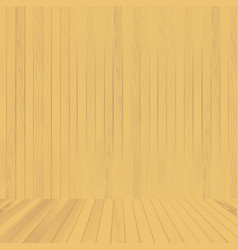 brown wood floor and wall background vector image