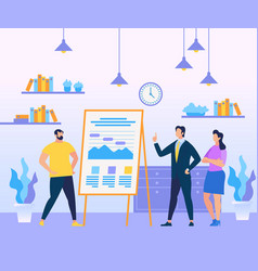business coach person in blue suit teaching people vector image