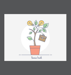 Business growth icon vector