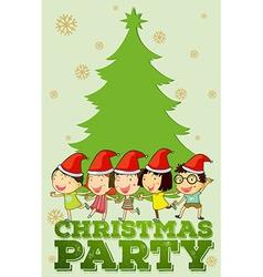 Children singing christmas songs vector