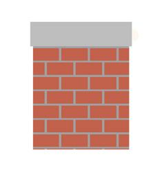 chimney in brick material on colorful silhouette vector image