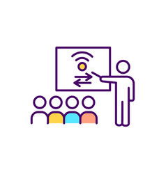 Civic engagement rgb color icon vector