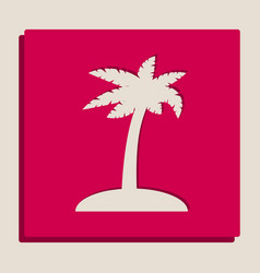 coconut palm tree sign grayscale version vector image