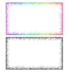 Colorful and monochrome card frame designs vector