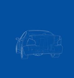 concept car rendering 3d vector image