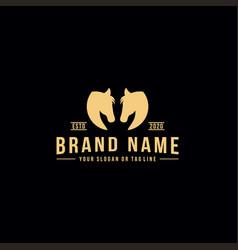 Creative logo design horse head vector