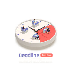 deadline isometric business concept vector image