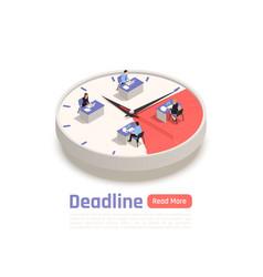 Deadline isometric business concept vector