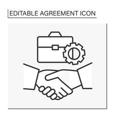 Deal line icon vector