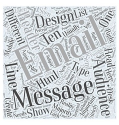 Designing for Different Types of Email Audiences vector image