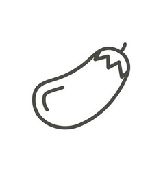 eggplant icon outline vegetable food line vector image
