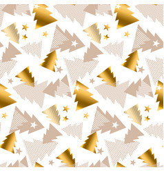 elegant gold and baige pattern happy new year vector image
