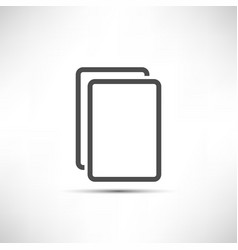 Empty Copy Icon vector image