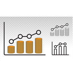 Financial income earnings analytics graph vector