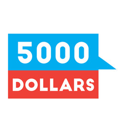 five thousand dollars advertising sticker vector image