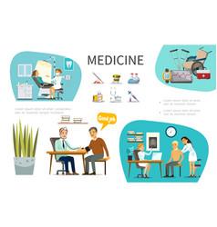 Flat medical treatment concept vector