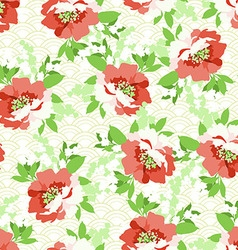 Floral seamless pattern with Flowers wild rose vector